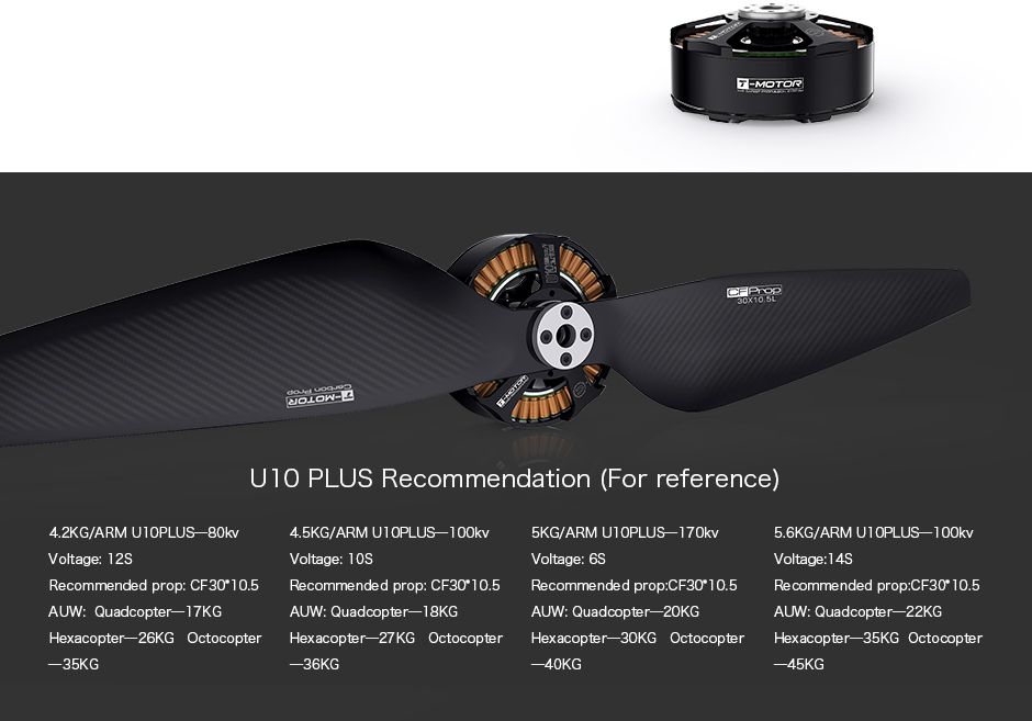 T-Motor U10 PLUS brushless moyor 100kv