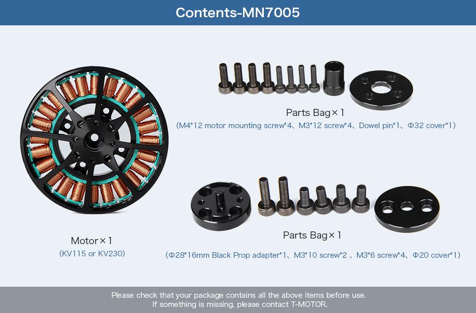 Antigravity 7005 KV115_Antigravity Type_Motors_Multirotor_T
